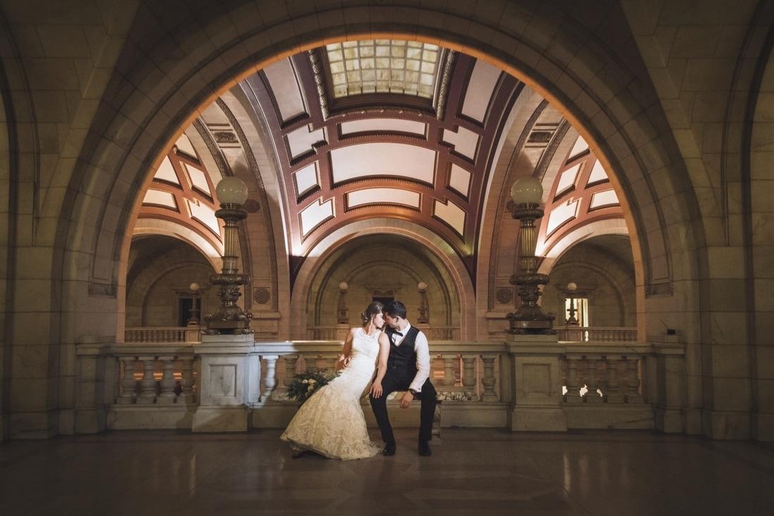 Ohio courthouse wedding