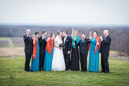 Photo of a bridal party at Mapleside Farms
