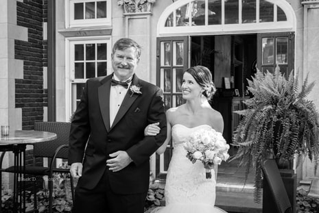 Cleveland Wedding Photo of a bride and her father at the Glidden House.